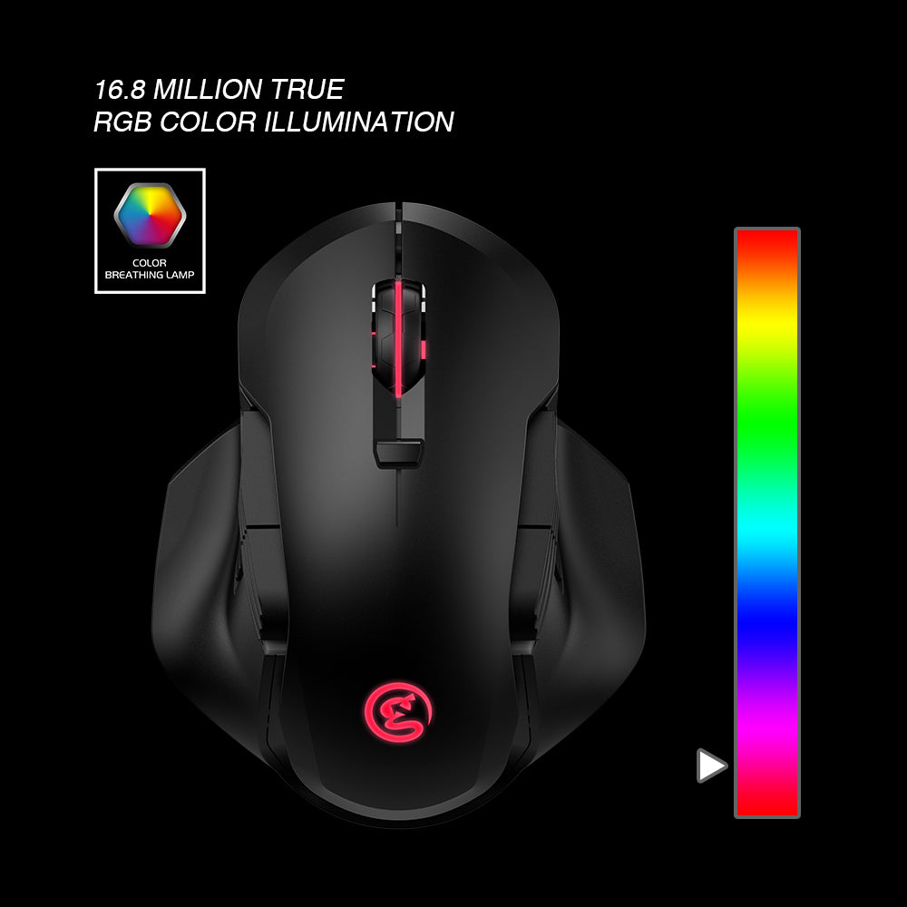 16000 DPI GameSir GM300 Wireless Wired Gaming Mouse RGB for Windows PC MacOS