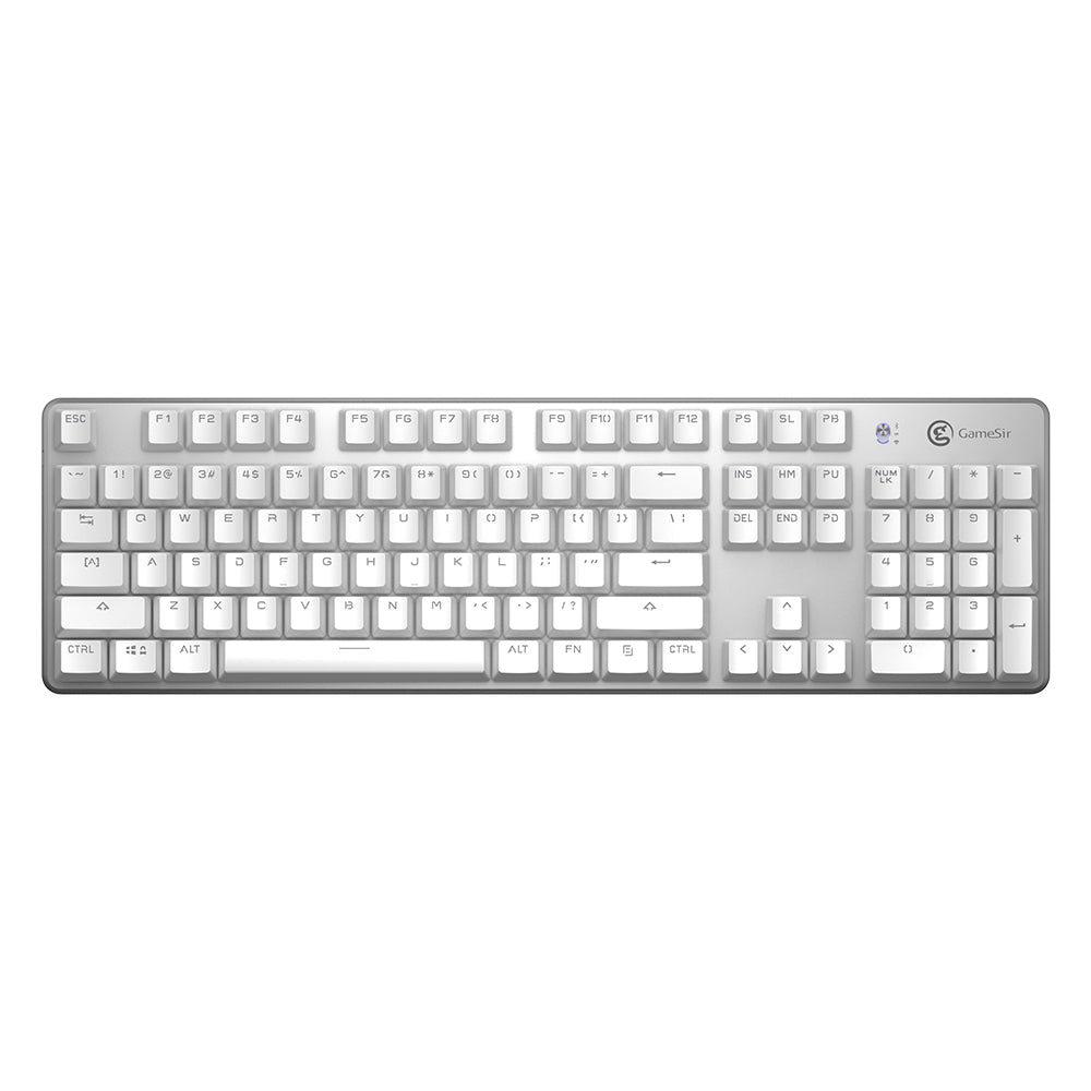 GameSir GK300 Wireless Mechanical Gaming Keyboard - White