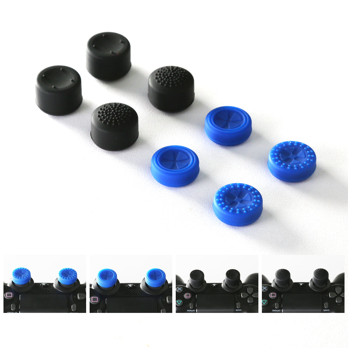 GameSir Thumb Grip Pack for PS4 / PS4 Slim / PS4 Pro Controller