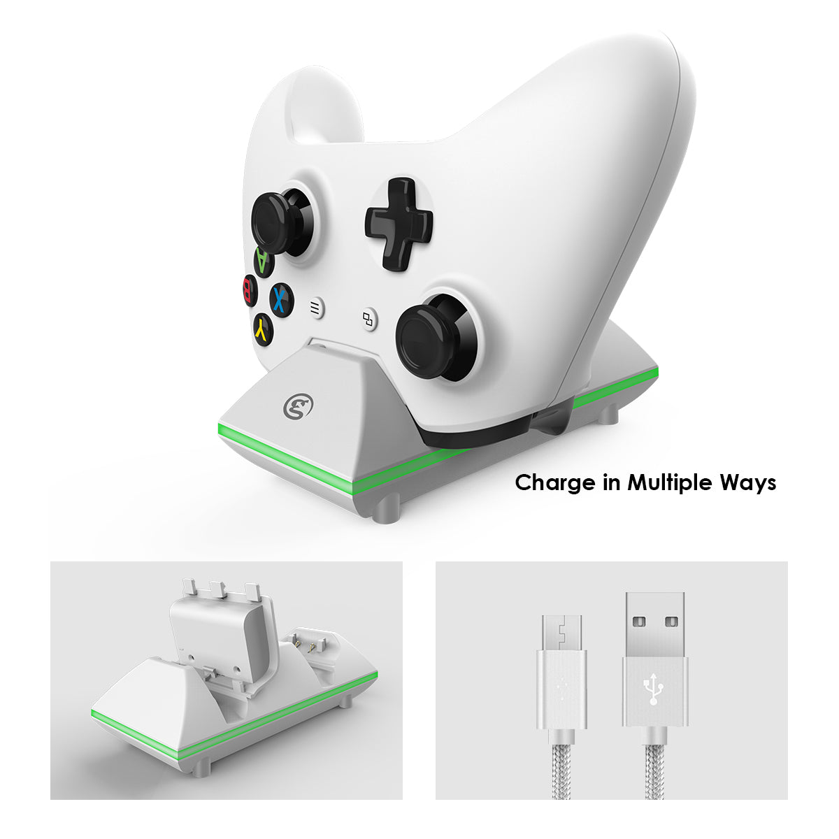 GameSir Dual Controller Charging Station Dock for Xbox One / Xbox One S / Xbox One Elite