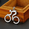 High-Quality Cool 'Man on Bicycle' Keychain