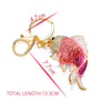 Goldfish Crystal Key Chain
