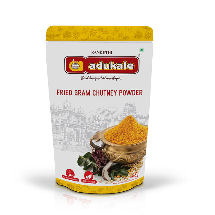 Fried Gram Chutney Powder | Chutney Powder for Dosa, Upma, and More | Adukale