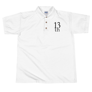 TH13TEENTH - Embroidered Polo Shirt with Logo