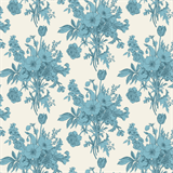 Cottage by Tilda Botanical Blue0606877_TD4815 - £1.70/10cm - NOW £1.40/10cm