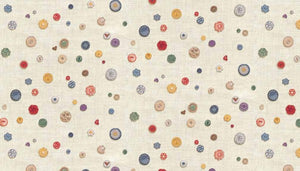 Haberdashery by Makower Buttons1703/Q - £1.00/10cm