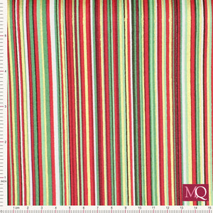 Twelve Days by Makower - Multi Stripe Red 2103-R
