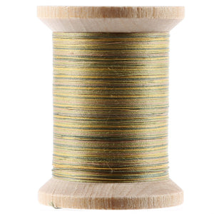 YLI Variegated Cotton Hand Quilting Thread 400yds Green and Tan # 21104-V08