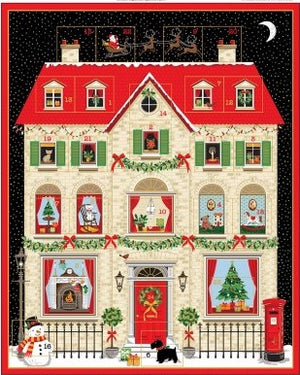 House Advent Calendar Panel by Makower 2133/1 - Reduced by 20%