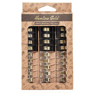 Hemline Gold Fabric Quuilting Clips 30pc