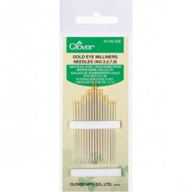 236 Gold Eye Milliners Needles (No. 3, 5, 7, 9)