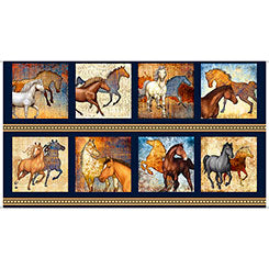 Mustang Sunset by Dan Morris for Quilting Treasures  QT26479-N £9.00 panel