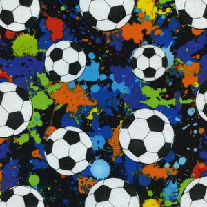 Footballs by Timeless Treasures 1092-blk - £1.30/10cm