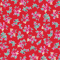 Flower Sugar by Lecien 31315-30 Red - Now £7/metre