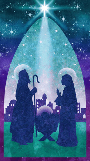 Stonehenge Joy to the World  Nativity Scene by Linda Ludovico for Northcott 39391-68 £9.50 panel