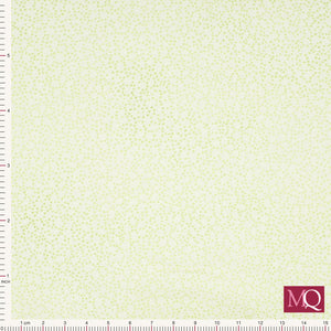 Quilter's Basic by Stof - Green Flower Speckle 4513-831 £13/metre