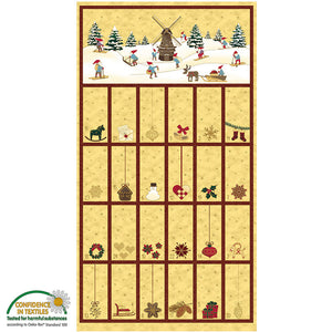 Christmas Wonders Advent Panel by Stof 4595-286 - Reduced by 20%