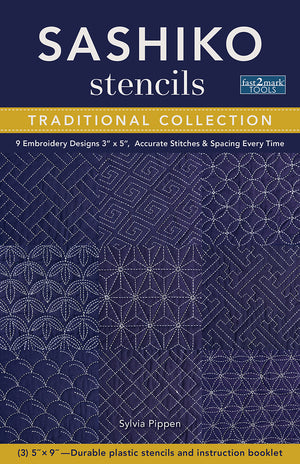 Sashiko Stencils, Traditional Collection  by Sylvia Pippen