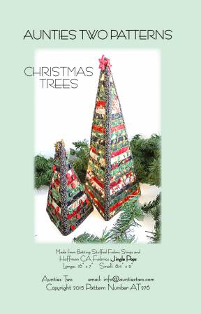 Aunties Two Patterns Christmas Trees - £5.50