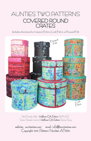 Covered Round Crates Pattern by Aunties Two Patterns AT660