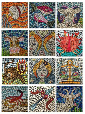 Star Sign Mosaics with Claire Passmore - June 28th - 10am to 4pm - Sewing machine required.