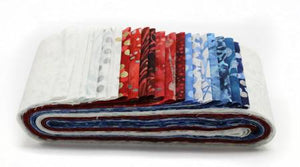 2-1/2in Strips Bali Poppy's from Hoffman Bali Batiks Yankee 20pcs /bundle  BPP-668-£21