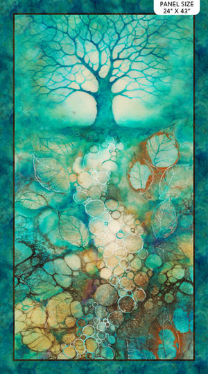 Panel of Tree of Wisdom by Kerry Darlington for Northcott DP23311-68 £12 panel