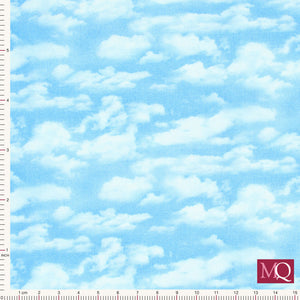 Landscape Medley from Elizabeth's Studio ES505 Light Blue - £1.30/10cm