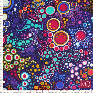 Effervescence by Amelia Caruso Purple 11209-195 Bright - £1.40/10cm