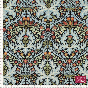 Morris Garden by Barbara Brackman for Moda - Autumn Flower Ebony  £1.40/10cm