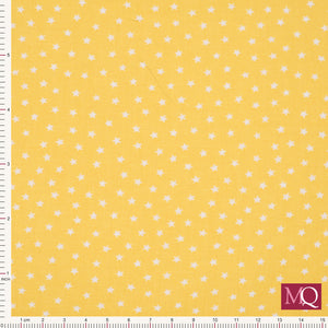 Star Bright from Makower - Yellow- 9166-Y2 - £1.00/10cm