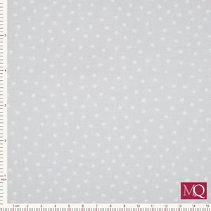 Star Bright from Makower - Light Grey- 9166-C2 - £1.00/10cm