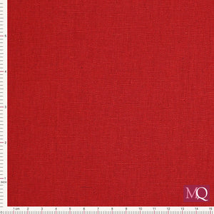 Linen/Cotton Solid Dye by Makower - 1000-LCR6 - Red - £1.40/10cm