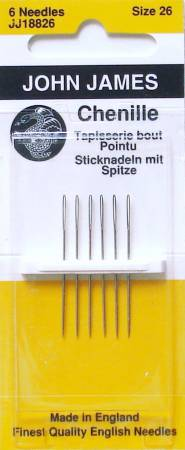 John James Blister Pack Chenille Needles Size 26