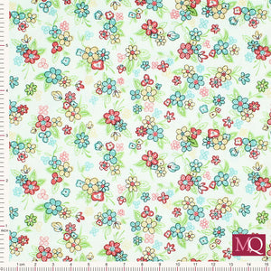 Katie Jane from Makower 1903_Q Multi floral Ivory - £1.20/10cm £12/m
