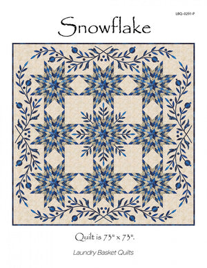 Snowflake Pattern by Edyta Sitar of Laundry Basket Quilts