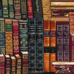Stacked Books by Timeless Treasures CM8214-Multi - £1.40/10cm