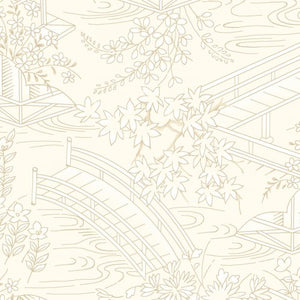 Japanese Garden By Maywood Studio Cream-Toile-MAS8083-E - £1.30/10cm