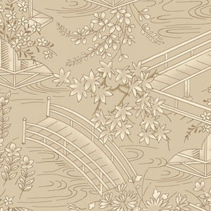 Japanese Garden By Maywood Studio  Beige-Toile-MAS8083-T - £1.30/10cm