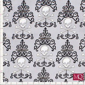 Bewitching by Deb Strain for Moda - Danger Damask Grey- 19841-16 £1.40/10cm