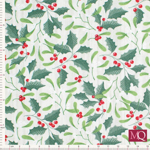 Swedish Christmas by Northcott - Holly 22295-91 - £1.40/10cm