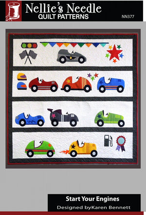 "Start Your Engines Quilt Pattern by Nellie""s Needle"