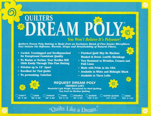 Quilters Dream Poly Request (Low Loft) Wadding