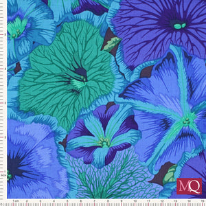 Philip Jacobs for Kaffe Fassett Petunias-PJ050-BLUE £1.40/10cm