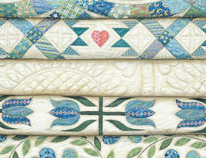 Rebecca Barker Note Cards Stacked Blue Quilts RB61