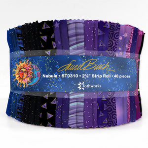 "Nebula by Laurel Burch - 2.5"" Strips - 40pcs  ST0310"