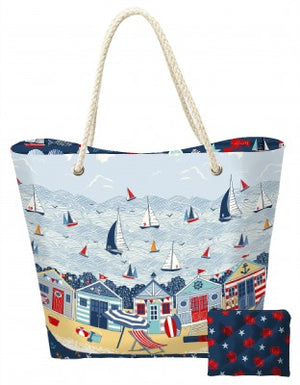 Sail Away Beach Bag and Pouch Pattern by Makower