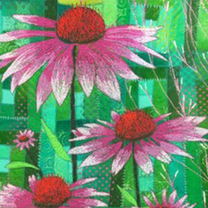 Machine Stitched Flowers - with Gillian Travis for Beginners plus.  THURSDAY 27th September 10am to 4.00pm  (Sewing Machine Required)