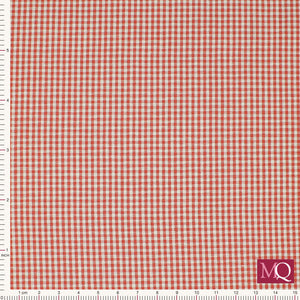 Gingham by Sevenberry Red 14300-1-5 - £1.40/10cm