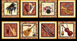 Sounds of Music by Blank Quilting Panel 8321 £8.50/panel